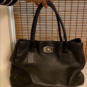 Furla black leather purse